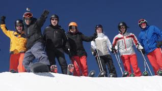 Seitz Kanzlei beim Skifahren