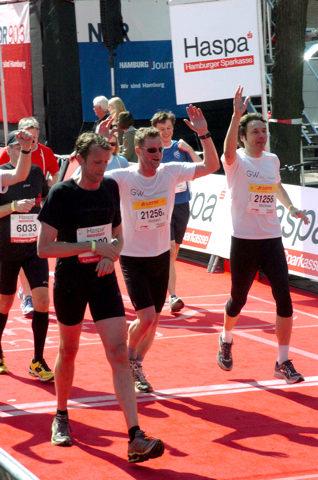 Team der Kanzlei GvW Graf von Westphalen beim Firmenlauf