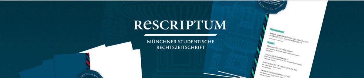 Rescriptum - Münchner studentische Rechtszeitschrift