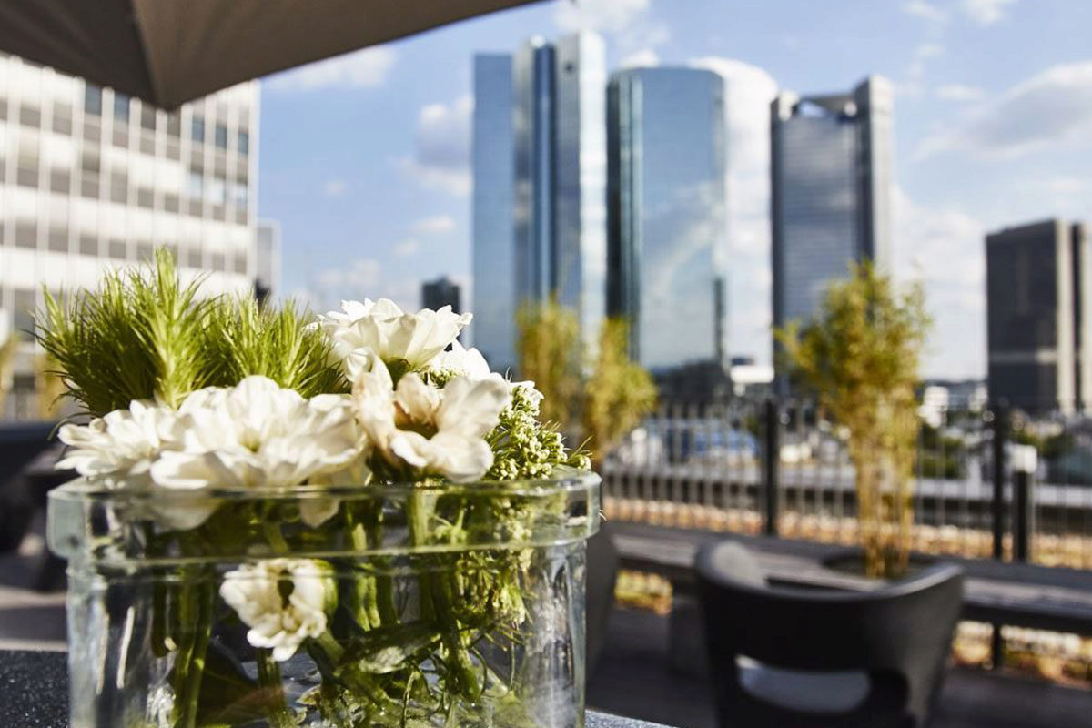 Ausblick Dachterrasse White & Case Frankfurt am Main