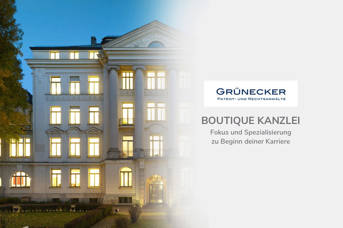 Kanzlei Gruenecker im Gespräch mit TalentRocket - IP Boutique