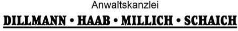 Anwaltskanzlei Dillmann Haab Millich Schaich