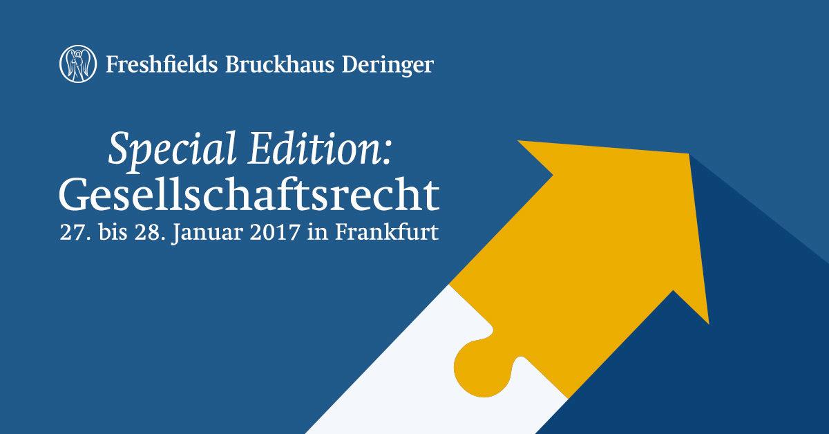 Freshfields Workshop Special Edition: Gesellschaftsrecht